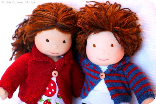 Bamboletta Christmas dolls close up