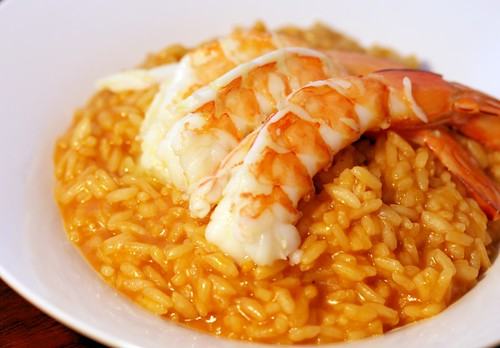 Prawn & bacon risotto