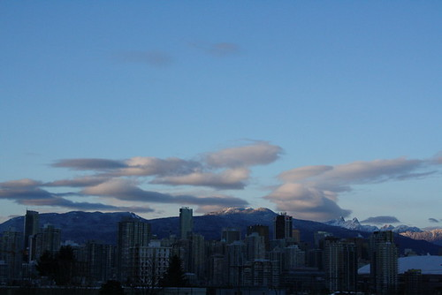 Snow capped Vancouver