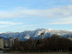 Snow at last (Ruth and Dave) Tags: city snow mountains vancouver downtown view kits kitsilano