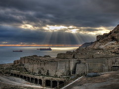Tankers are waiting under the sunset (Lolo_) Tags: sunset marseille hdr tankers