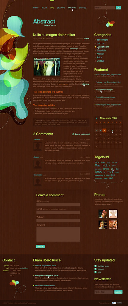 Abstract, my Woothemes design (2nd page)