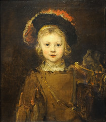 """Portrait of a Boy (Presumed to be the Artist's Son, Titus)"" by Rembrandt van Rijn (mark6mauno) Tags: boy portrait simon museum painting nikon norton canvas oil van pasadena nikkor rembrandt d3 titus rign nortonsimonmuseum nikond3 2470mmf28g"