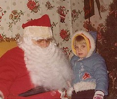 with Santa, 1976
