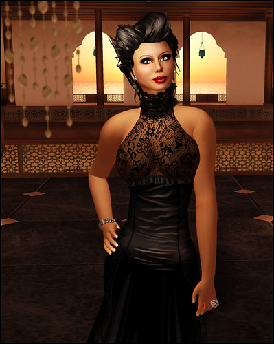 { Zaara } Amala in black