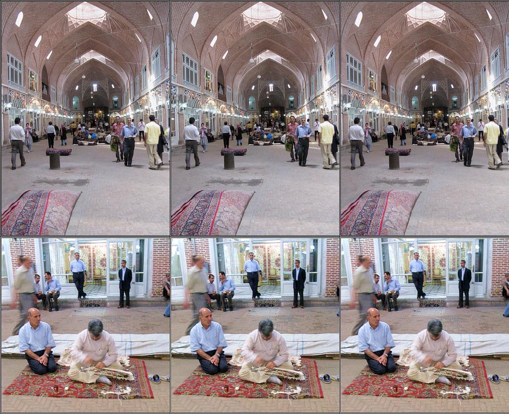 Tabriz Carpet Bazaar Triplet 3D
