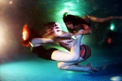 underwater disco inferno (kozyndan) Tags: laura water pool night mexico underwater alfred cuernavaca kozy