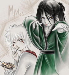 little jiraiya and orochimaru (MichiyoLan) Tags: jiraiya orochimaru