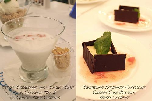 Desserts of Festive Menu 2008/09