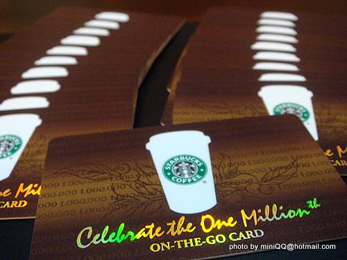 Starbucks台灣統一星巴克 百萬紀念版隨行卡@2009 Feb