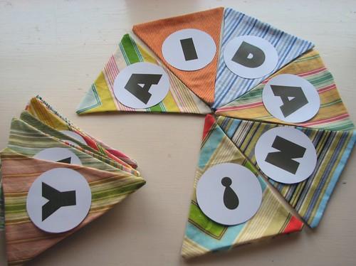 Stripey Birthday Bunting