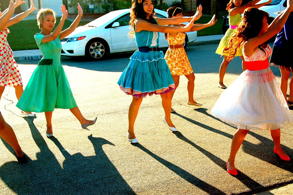 practicing their dance for the party