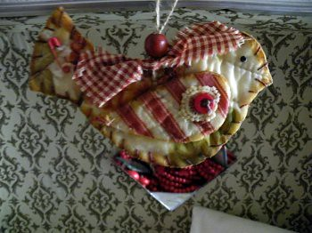 Sweetly Scented Quilt Bird Ornament