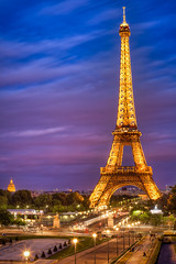 Eiffel Tower Sunset (Joshua Gunther) Tags: street city travel vacation urban paris france night canon landscape photography europe cityscape joshua cityscapes 5d hdr gunther mkii joshuagunther