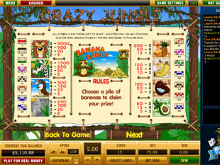 free Crazy Jungle slot game paytable