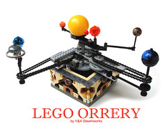 Lego Orrery by V&A Steamworks (V&A Steamworks) Tags: iron lego mechanical technic planets builder orrery moc