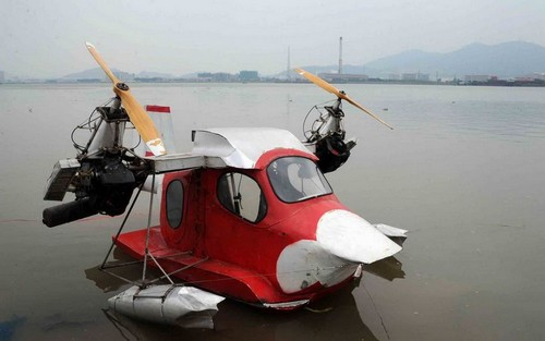 Self-made seaplane