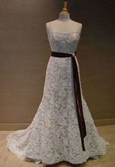 Erins beautiful wedding gown (SusannaSegerholm) Tags: vintage chocolate pearls smokeyquartz weddingjewelry suzyq