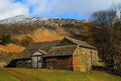 Old Farm Bulidings - Lake District (Ian Lambert) Tags: uk england mountain lake snow spring holding district small lakes cumbria derilict stonebuilding blueribbonwinner abigfave theunforgettablepictures overtheexcellence theperfectphotographer goldstaraward