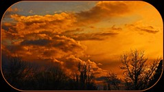 A Perfect Moment (mikenpo) Tags: sunset orange black silhouette yellow clouds soe blueribbonwinner mywinners theloveshack anawesomeshot diamondphotographer diamondclassphotographer flickrdiamond fickrdiamond absolutelystunningscapes rubyphotographer interestingsunset