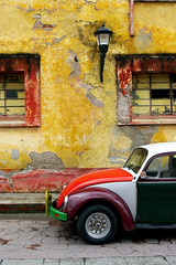 (Car)chitecture (Jessie Reeder) Tags: windows deleteme deleteme2 deleteme3 car wall architecture bug mexico paint saveme4 saveme5 saveme6 saveme savedbythedeletemegroup saveme2 saveme3 saveme7 beetle saveme10 saveme8 saveme9 peel chiapas volkswagon sancristbaldelascasas