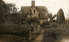 Edwardian garden with Topiary (lovedaylemon) Tags: woman house home architecture vintage garden found topiary image cottage edwardian