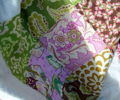summer small quilt detail