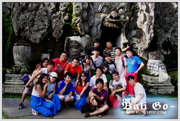 32-Group in front Goa Gajah