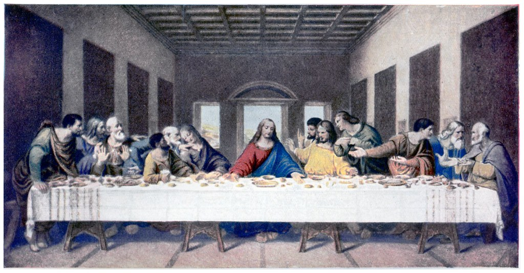 The Last Supper  ( or chef d'oeuvre ) by   Leonardo de Vinci .