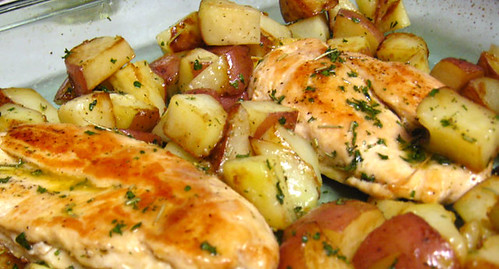 Chicken Cutlets with Herb Sauce