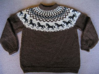 Ravelry Hestapeysa Icelandic Sweater With Horses