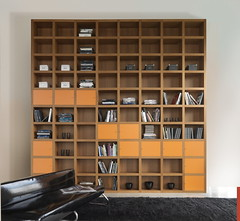 "Mazzali: ""Krea"" bookcase / libreria ""Krea"". Living and office area (MAZZALIARMADI.IT) Tags: italy house home living interior bookcase bookshelves bookcases interiordesign plywood sustainable sustainability ecofriendly sustainabledesign ecodesign waterfinishing designsustainable"