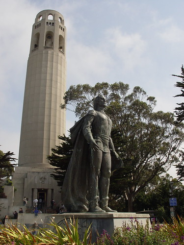 Coit Tower and Columbus Statue