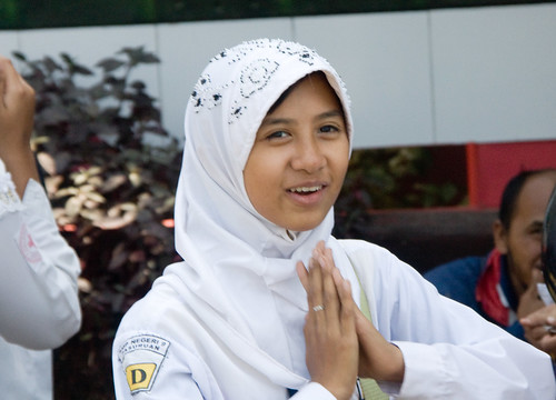 印尼 快樂的學生