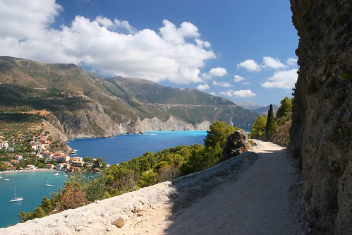 Touring around Kefalonia, Greece