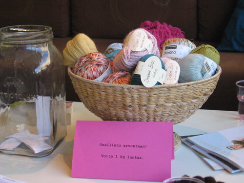 you can win 1kg of yarn!