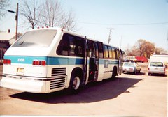 Kenosha Transit 1978 slope back GMC RTS bus. Kenosha Wisconsin. April 2000.