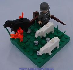 Herding sheep over a minefield 05. (A J Summersgill) Tags: world 2 field war mine lego wwii ii landmine minefield brickarms
