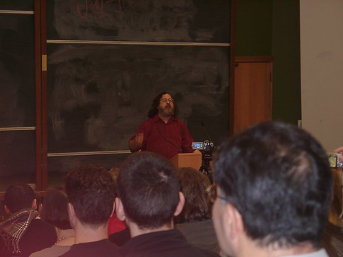 Richard Stallman at the University of Auckland, August 8,. 2008