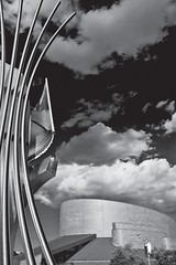 Firebird sculpture and Meyerhoff Symphony Hall