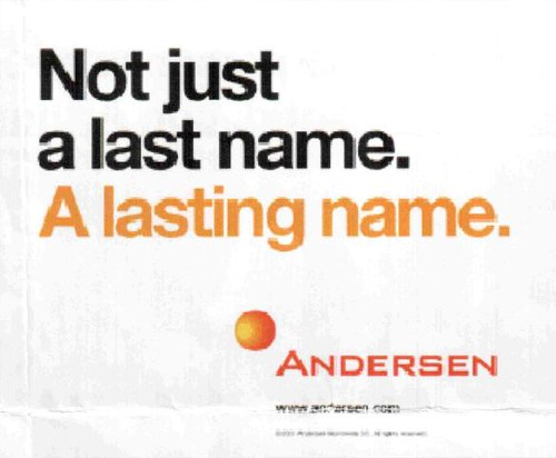 andersen - not just a name - a lasting name
