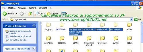 cancellare i backup di aggiornamento