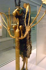 The famous Ram In the Thicket found in the Great Death Pit at UR Gold Silver Lapis Lazuli Shell 2600 BCE (2) (mharrsch) Tags: grave death gold ancient tomb goat burial ur ram britishmuseum sumer thicket lapislazuli 26thcenturybce mharrsch heritagesite5