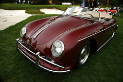 Candy apple speedster (j.hietter) Tags: california red detail eye classic beach apple car bug golf monterey paint candy angle weekend deep convertible august front course pebble porsche 2008 34 concourse speedster roadster elegance 356 delegance ennstalclassic concors conours