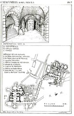 Mapa catacumba de Priscila zona capilla griega