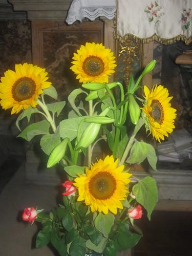 fiori sulla tomba di Santa Monica, Chiesa di Sant'Agostino, Roma, buona notte a tutti dans immagini sacre