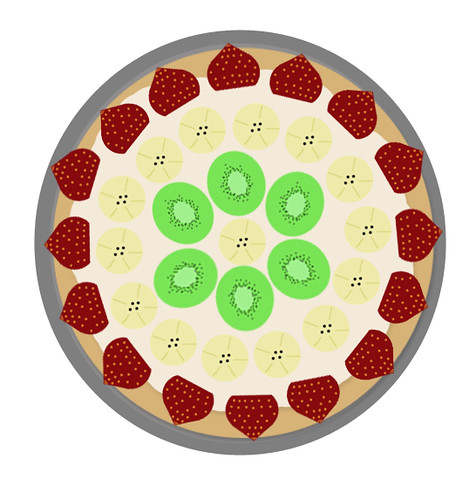 Fruit pizza step 4