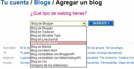 Tipo de Blog
