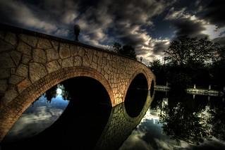 Mineral Palace park bridge,Pueblo.