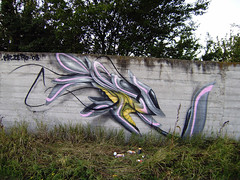 Letter R (mrzero) Tags: streetart art colors lines wall effects grey graffiti 3d paint hungary tag eger letters style spray colored graff quick cfs mrzero